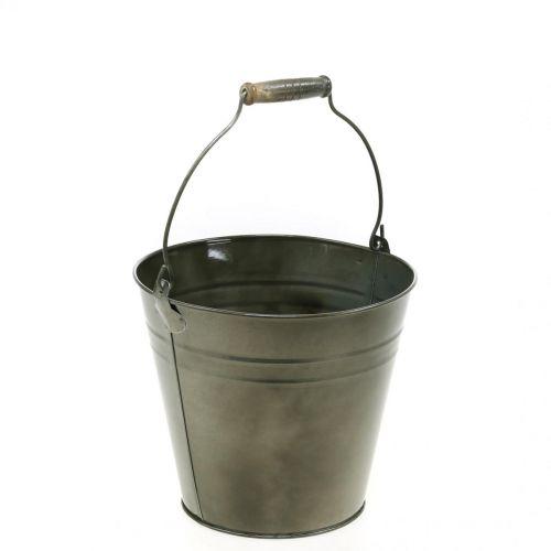 Pot en métal, seau à planter, jardinière Ø20cm H17cm