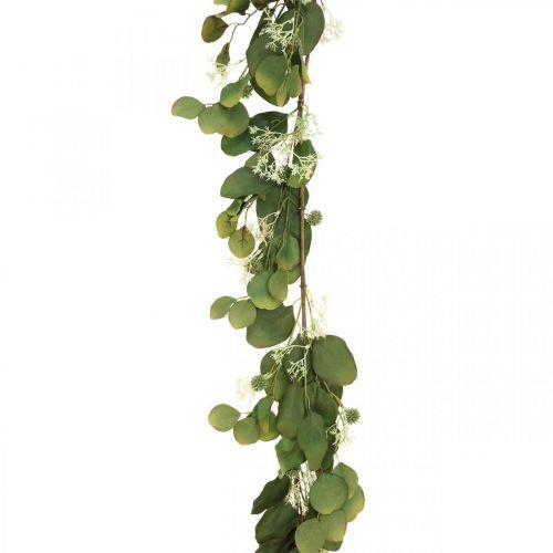 Guirlande artificielle eucalyptus aux chardons déco automne 150cm