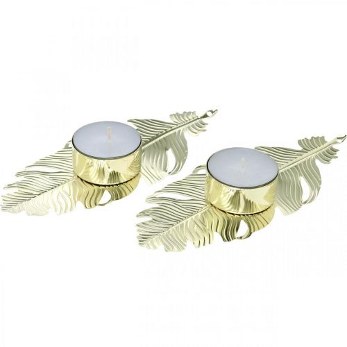 Bougeoir sur ressort, décoration métal, bougeoir, décoration de l'Avent doré Ø2.2cm L13cm 4pcs