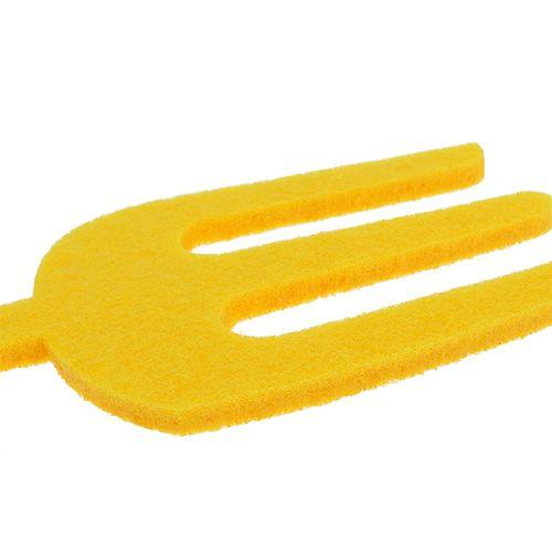 Outils de jardin en feutrine jaune 6 p.