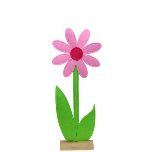Fleur en feutrine rose 64 cm