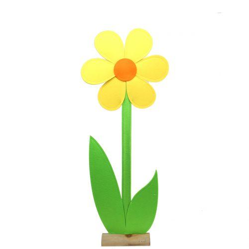 Fleur en feutrine jaune 87 cm