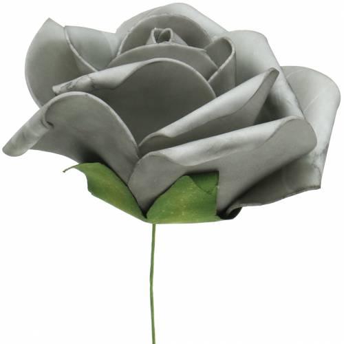 Mousse Rose Gris Ø15cm 4pièces