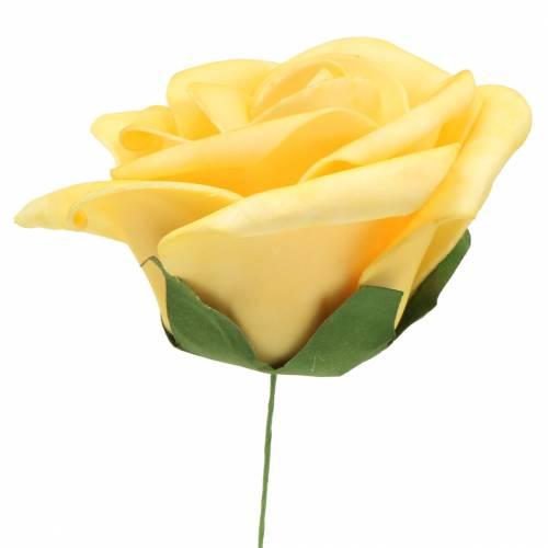 Mousse Rose Jaune Ø15cm 4pièces