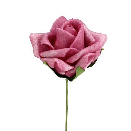 Mousse Rose Ø4,5cm Erika 36pcs