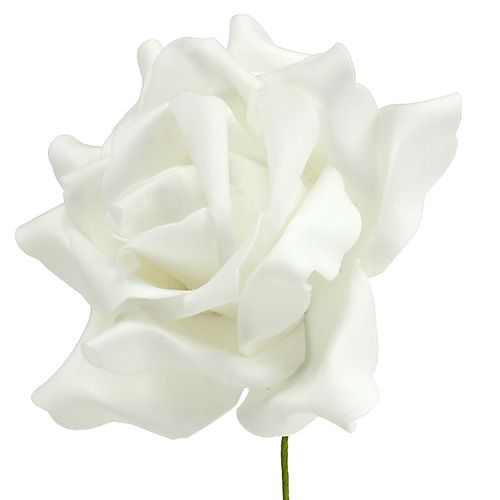 Rose en foam blanc Ø 15 cm 4 ex.