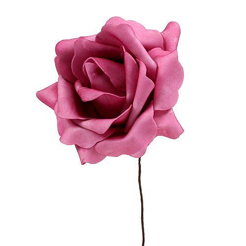 Rose en foam bruyère Ø 15 cm 4 ex.