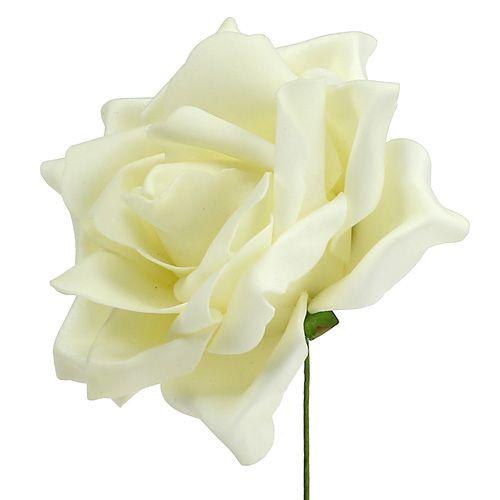 Rose en foam crème Ø 15 cm 4 ex.