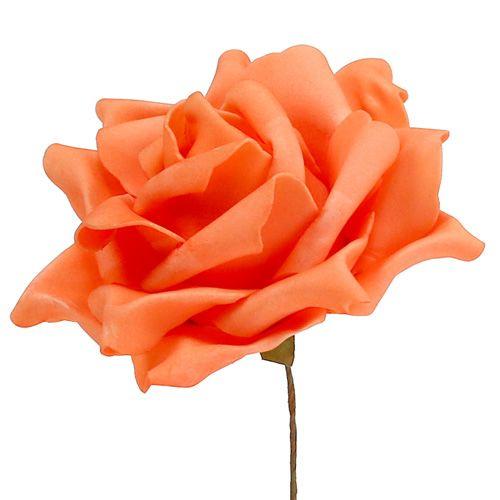 Roses en mousse orange Ø15cm 4pcs