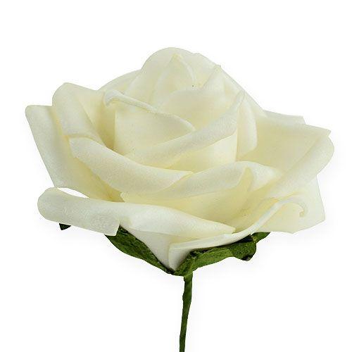 Rose en foam Ø 6 cm crème 27 ex.