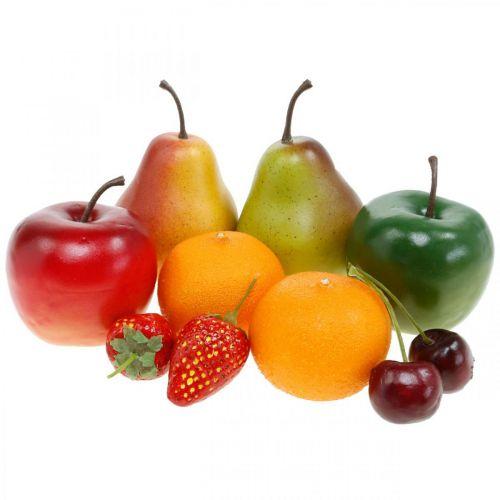 Fruits décoratifs, mélange de fruits artificiels L5–8,5 cm
