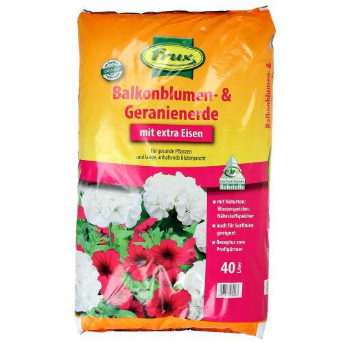 Terre de fleurs et géraniums de balcon FRUX 40l