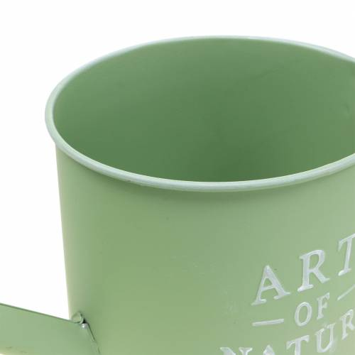 Pot de fleur arrosoir vert menthe zinc Ø16,5cm H17cm