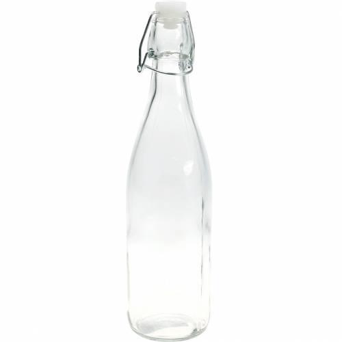 Bouteille décorative, bouteille à couvercle basculant, vase en verre à remplir, bougeoir