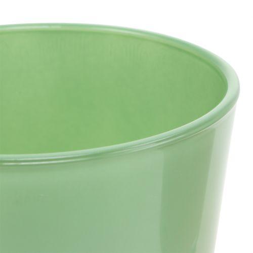 Pot en verre Ø10cm H8,5cm Vert menthe