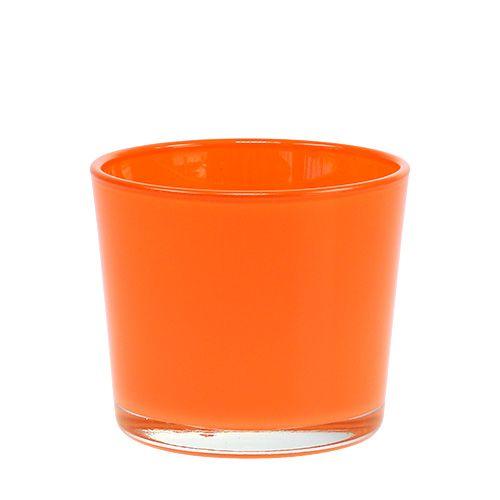 Pot en verre Orange Ø10cm H8,5cm