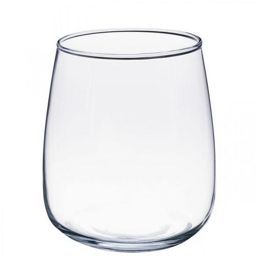 Vase en verre, vase à fleurs, vase décoratif Ø15cm H17cm