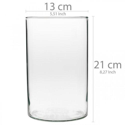 Verre décoratif, verre à bougie, décorations de table, vase à fleurs Ø13cm H21cm