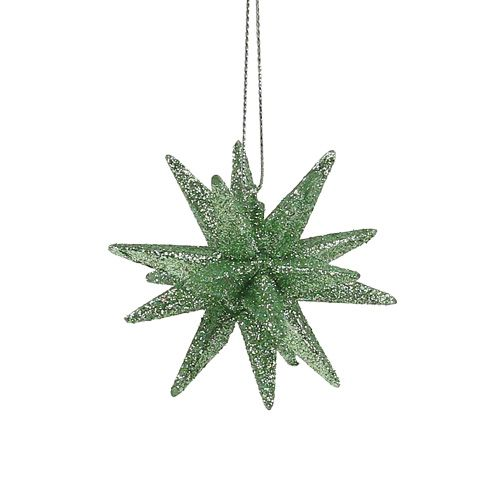 Étoiles scintillantes vert menthe 7,5cm 8pcs