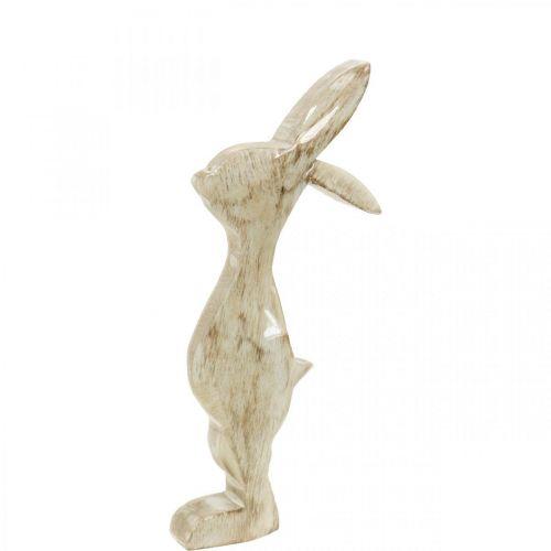 Lapin en bois, printemps, décoration de Pâques, lapin décoratif H25cm