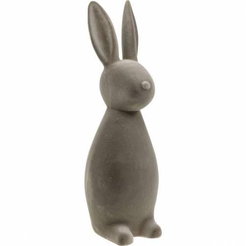 Lapin gris foncé floqué lapin de Pâques décoration de table décoration de Pâques Pâques