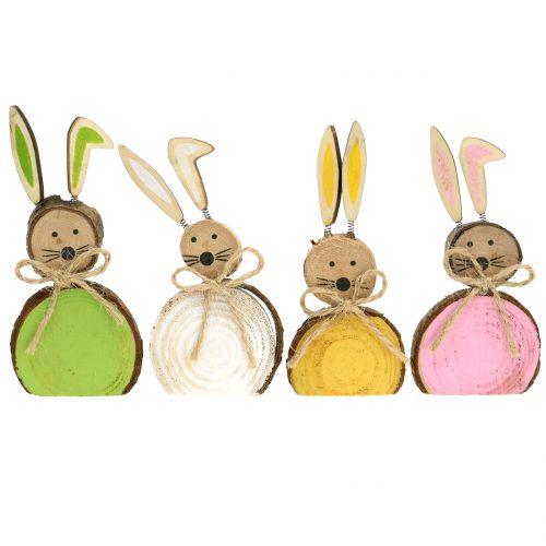 Bois de lapin deco couleurs assorties 10cm 8pcs
