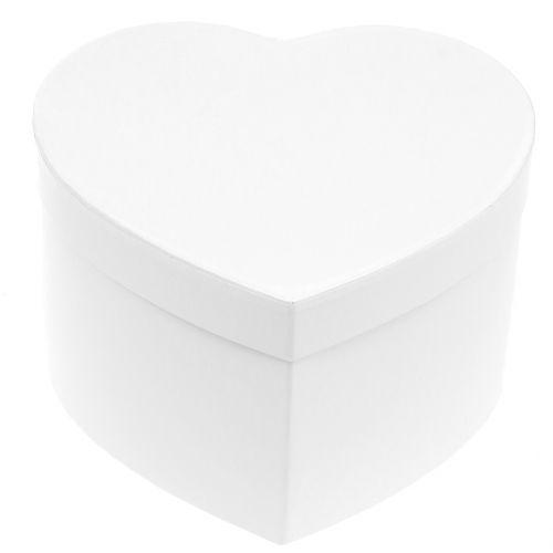 Boîte à fleurs en forme de coeur 18/20 cm 2 p.