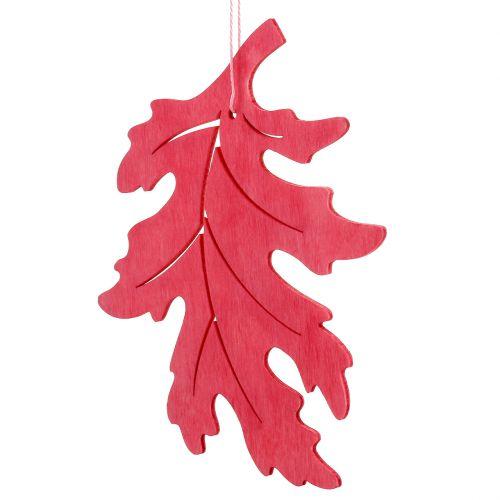Mélange de feuilles en bois pour suspension couleurs assorties 15 cm 9 p.