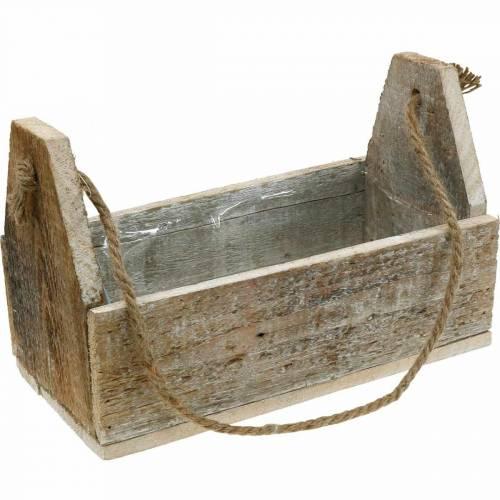 Boîte en bois pour la plantation, boîte à outils, boîte à plantes avec poignée, décoration bois 30cm