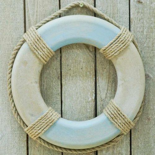 Anneau de bain en bois, décoration maritime, bouée de sauvetage Ø31cm