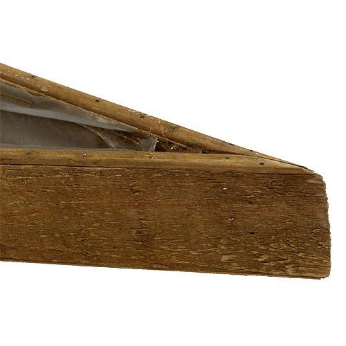 Bol en bois pour planter la nature 79cm x14cm x7,5cm