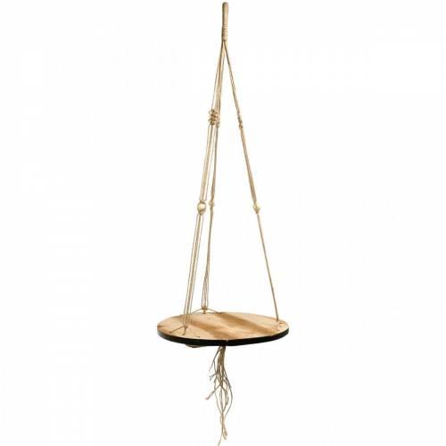 Balançoire à plantes, bac à fleurs sur corde, panier suspendu avec macramé Ø34cm L84cm