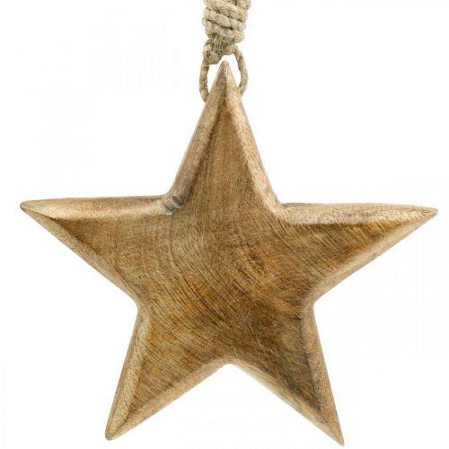 Étoile décorative, pendentifs en bois, décorations de Noël 14cm × 14cm