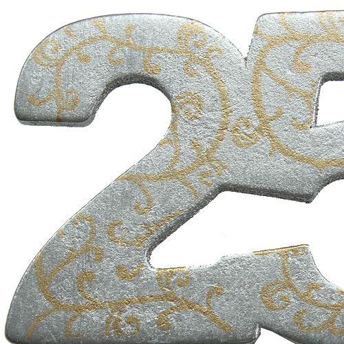 """Numéro d'anniversaire «25"""" en bois argenté 36 p."""