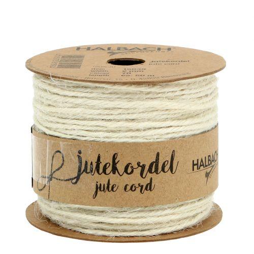 Cordon jute blanc Ø2mm 100g