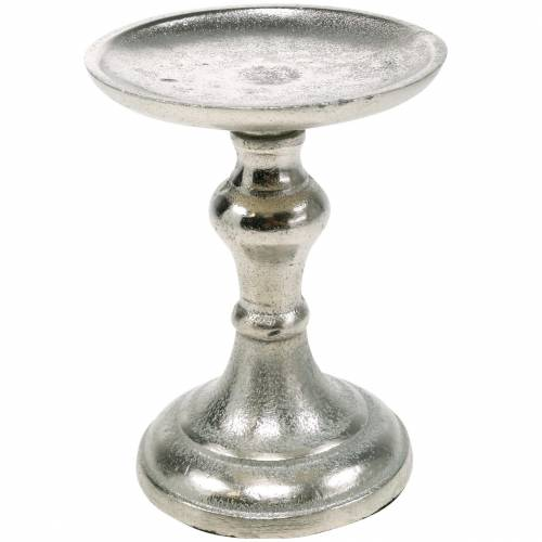 Bougeoirs en métal pour bougies piliers, bougeoirs, bougeoirs en argent