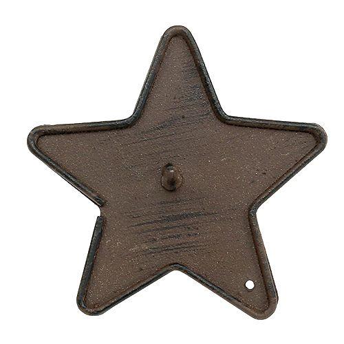 Bougeoir avec pointe Étoile Marron 9cm