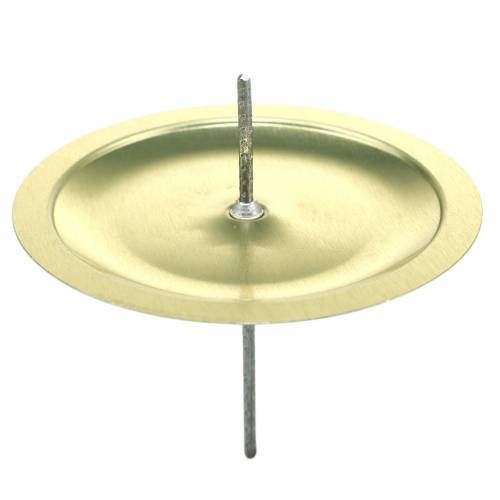 Bougeoir avec épine or Ø6cm 36pcs