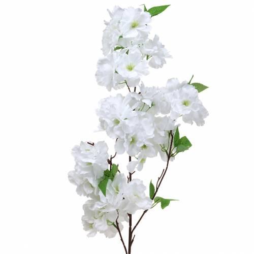 Branche de fleur de cerisier blanc artificiel 103 cm