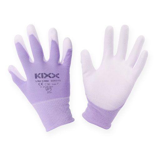 Gants de jardinage Kixx taille 7 blanc, lilas