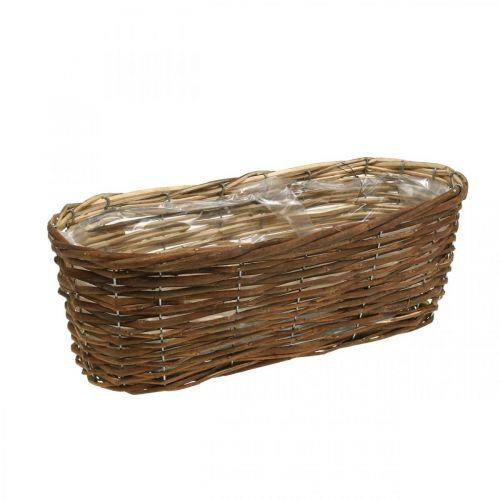 Panier bol, jardinière, panier en bois pour planter la nature L41cm H13,5