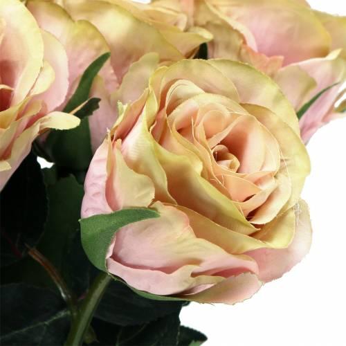Crème Art Rose fourrée, rose Ø6cm L37cm 6pcs