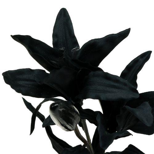 Fleur artificielle lys noir 84 cm