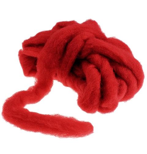 Fusée laine 10m rouge foncé