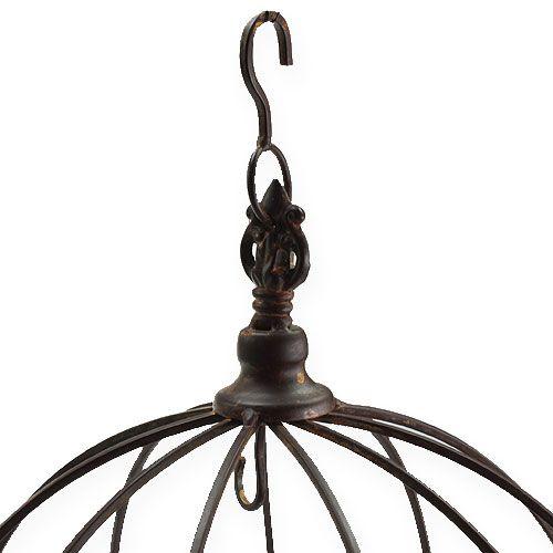 Couronne en métal à suspendre brun rouille Ø31cm H31cm