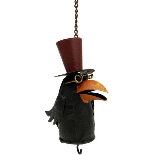 Corbeau à suspendre 18 cm