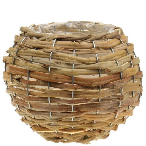 Panier sphérique à garnir brun clair Ø 25 cm