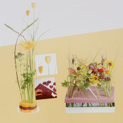Panneaux design en mousse florale plug-in taille vieux rose 34,5 cm × 34,5 cm 3 pièces