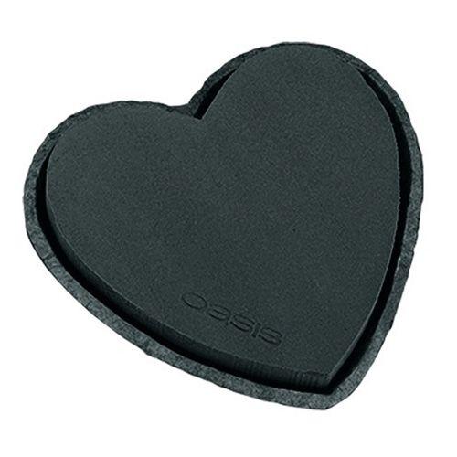 Coeur en mousse florale noir 33cm 2pcs décoration de mariage