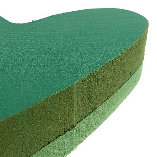 Plug taille coeur mousse florale vert 24cm x 25cm 2pcs